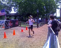 Marshall at the finish