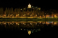 Turin at night (Khairul) Tags: travel winter italy holiday architecture night landscape torino turin montedeicappuccini museonazionaledellamontagna canonefs1755mmf28isusm nationalmuseumofthemountains