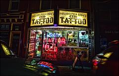 Philadelphia Eddie's Tattoo (raymondclarkeimages) Tags: canon 6d usa raymondclarkeimages 8one8studios rci philly philadelphia 2470mm28 tattoo ink art bodypaint outdoor night shop artists philadelphiaeddies 621 classic bodyart flickr google yahoo