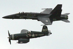 Air Show: F-18 and Corsair