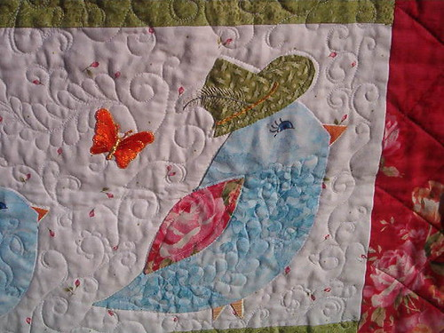 Bird Crossing by the Victorian Quilter (detail)