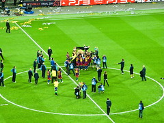 Champions League Final 2011 - Pep Guardiola Lifted (Blitzy72) Tags: barcelona london football barca soccer celebration ucl players manutd bumps manu manchesterunited uefa throw hoisted wembleystadium thrown lifted europeancup guardiola championsleaguefinal 2011 28052011 28thmay2011
