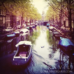 Canal Boat in the Morning (Lorraine Marie Varela) Tags: morning holland netherlands amsterdam canalboat springday singelcanal amsterdamcanal herengrachtcanal