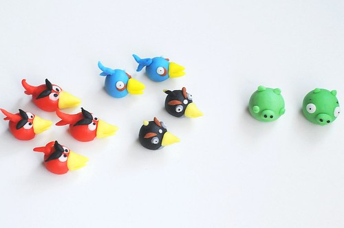 Angry Bird Fondant Cake Toppers - Long Beak Version