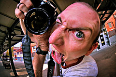 Turbo Weasel (revisited) (Elwood Photo) Tags: bird eye canon crazy nebraska ben fisheye psycho lincoln 5d elwood haymarket 16mm zenitar hickman exposureblend elwoodphoto turboweasel elwoodphotocom4027707458