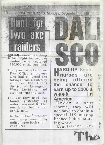 Daily Record Monday 14 1981