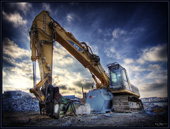 Cat (Kaj Bjurman) Tags: hdr kaj bjurman construction equipment cat cs3 photomatix stockholm sweden eos 40d autumn 2007 catepillar