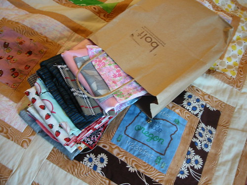 patchwork swap--the fabric I sent to Wendy