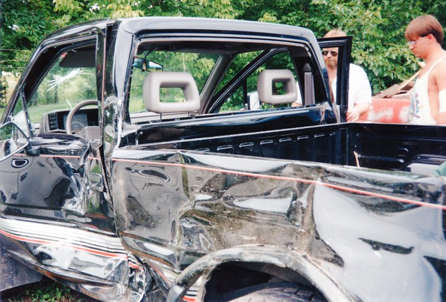dan accident tbone pickup 1991 wreck edwin isuzu