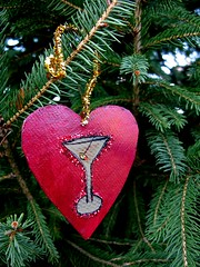 Martini Heart Ornament