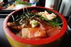 今日のお昼@漬け丼
