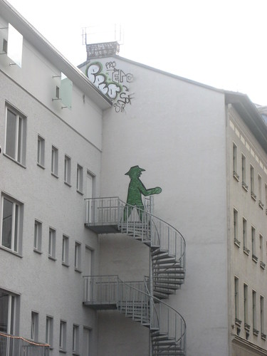 Ampelmann in the stairs