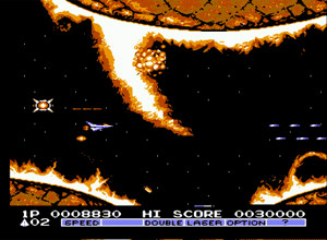Gradius 2 NES Screenshot