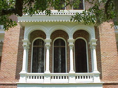 15 Beautiful First-Floor Balcony with Moorish Arches at Longwood - Natchez, Mississippi (sunnybrook100) Tags: mississippi natchez mansion antebellum longwood adamscounty nationaltrustforhistoricpreservation nthp