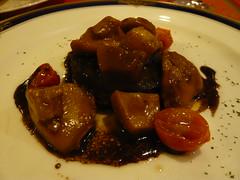 フォアグラとポルチーニ茸のソテー