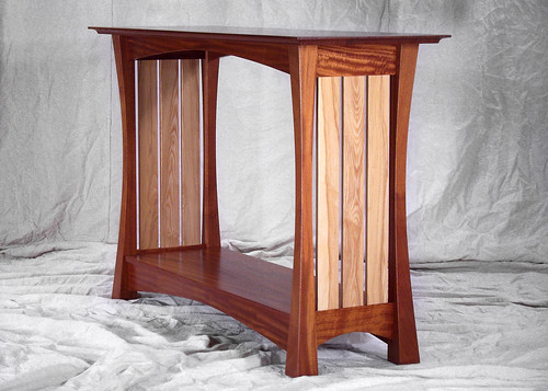 Mahogany table.