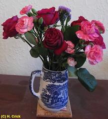 lounge flowers (heczone photography) Tags: blue flower lounge jug vase arrangements