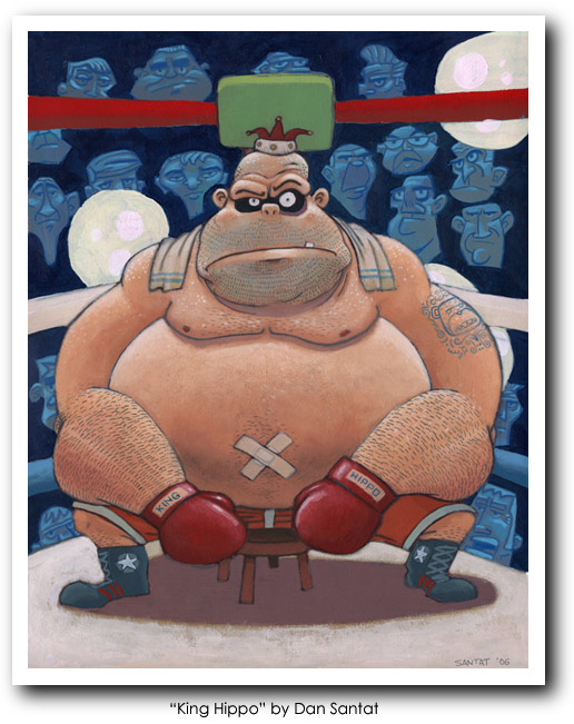 Punch Out Art - King Hippo