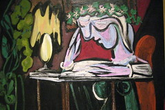 NYC - Metropolitan Museum of Art: Pablo Picasso's Girl Reading at a Table (wallyg) Tags: nyc newyorkcity ny art museum painting nhl manhattan modernart landmark ues picasso gothamist artmuseum metropolitanmuseum themet uppereastside metropolitanmuseumofart cubist pablopicasso cubism mariethrse museummile nationalhistoriclandmark nationalregisterofhistoricplaces usnationalhistoriclandmark nrhp usnationalregisterofhistoricplaces newyorkcitylandmarkspreservationcommission nyclpc girlreadingatatable mariethrsewalter