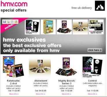 HMV Special Offers