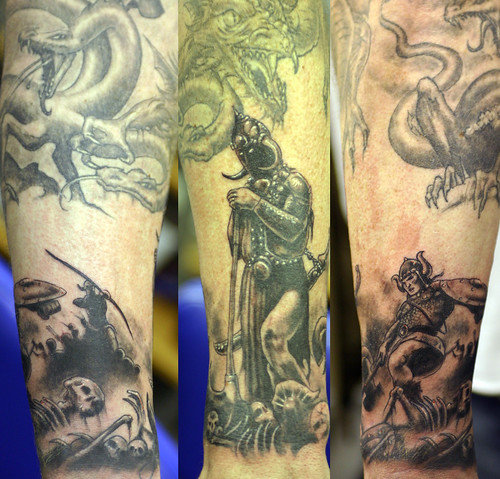 Posted by vic | Filed under Half Sleeve Tattoo · Battle Tattoo Designs for