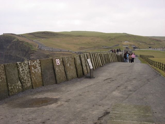 Looking back from the Cliffs toward the Visitor
