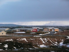 houses of fludir (ezioman) Tags: houses winter panorama house snow architecture clouds landscape countryside iceland scenery village view redhouse yellowhouse islanda woodenhouses fludir orp fluir