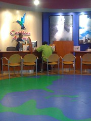 Caribbean Airlines ticketing office.