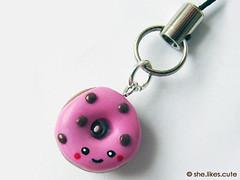 shop update: donut charms (she.likes.cute) Tags: phone handmade cell happiness charm clay donut kawaii polymer shelikescute