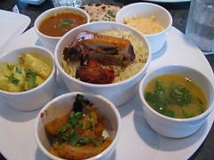 Chutneys Indian Cuisine sampler plate