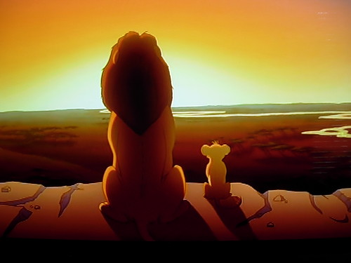 Mufasa & Simba in Disney's The Lion King