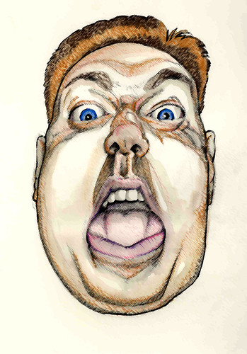 self-portrait mouth colored pencil