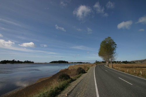 Nice cycling north of Dunedin, NZ