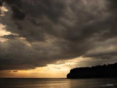 : phantoms (Lakad Pilipinas) Tags: sunset sea storm beach silhouette clouds dark island coast asia philippines southeast luzon bataan bagac canonpowershots3is audioscience sangoyo christianlucassangoyo lakadpilipinas