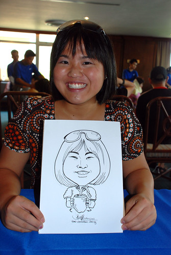 Caricature live sketching Temasek Fun Day 16
