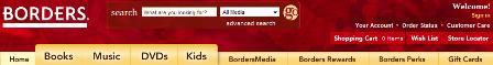 Borders navigation bar