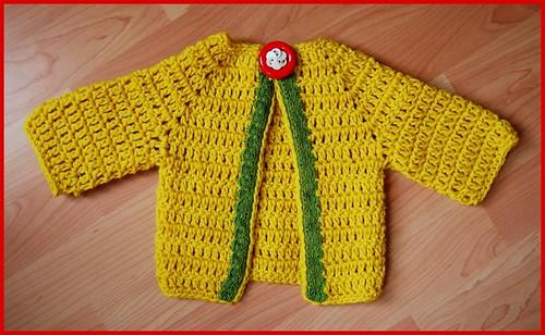 yellow wool baby sweater