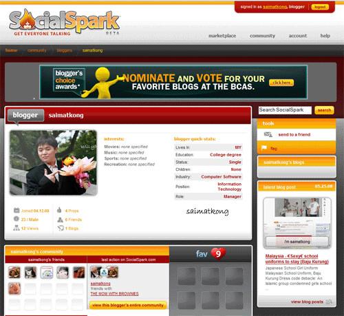 social spark profile