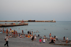 Yalta beach (downtown, evening)