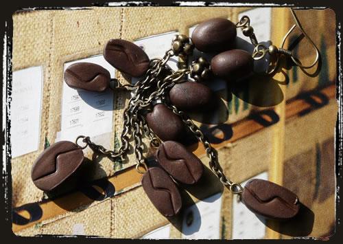 Orecchini caffé marrone  - Coffee bean brown earrings MEHLCBF