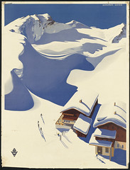 Austria. Ski lodge in the Alps (Boston Public Library) Tags: austria posters travelposters  dc:identifier=0805000086