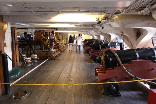Inside the USS Constitution battle ship...