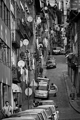 As ruas do Porto / Oporto's streets (brunoat) Tags: street city people urban blackandwhite bw blancoynegro portugal town calle social porto eos350d oporto canonef70300mmf456isusm brunoat brunoabarca