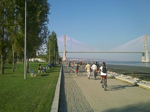Vista da Ponte Vasco da Gama