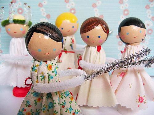 Santa Lucia dolls by Alicia Paulson