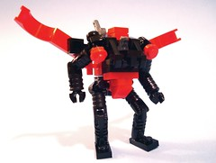 The Flying Frog:  Airborne Combat Suit. (polywen) Tags: lego mecha mechahubpool frogspace frogspacepool