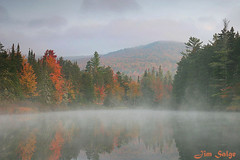 Magalloway Mist (Jim Salge) Tags: mist reflection leaves river pond newhampshire whitemountains nh foliage facebook errol whitemountainnationalforest blueribbonwinner umbagog magalloway impressedbeauty greatnorthwoods