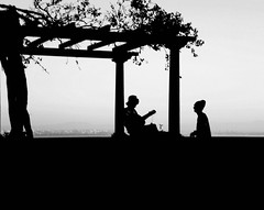 Music is everywhere (Sandra_R) Tags: life city light people bw music portugal outdoors photography blackwhite exterior guitar lisboa lisbon details lifestyle santaluzia foliage viewpoint soe urbanscenes miradourodesantaluzia