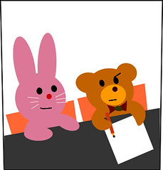 Bunny and Teddy in School