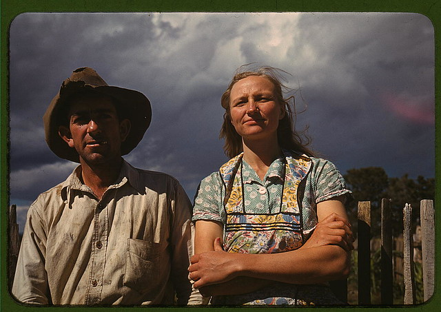 Faro and Doris Caudill, homesteaders, Pie Town, New Mexico (LOC)